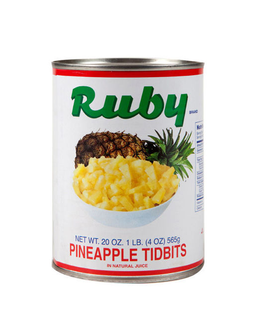 Picture of PINEAPPLE TIDBITS IN NATURAL JUICE 107 OZ